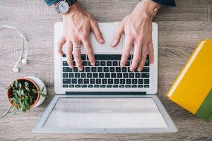 Corporate Wellness Working on laptop