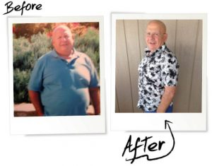 Dieter of the Month before and after photo