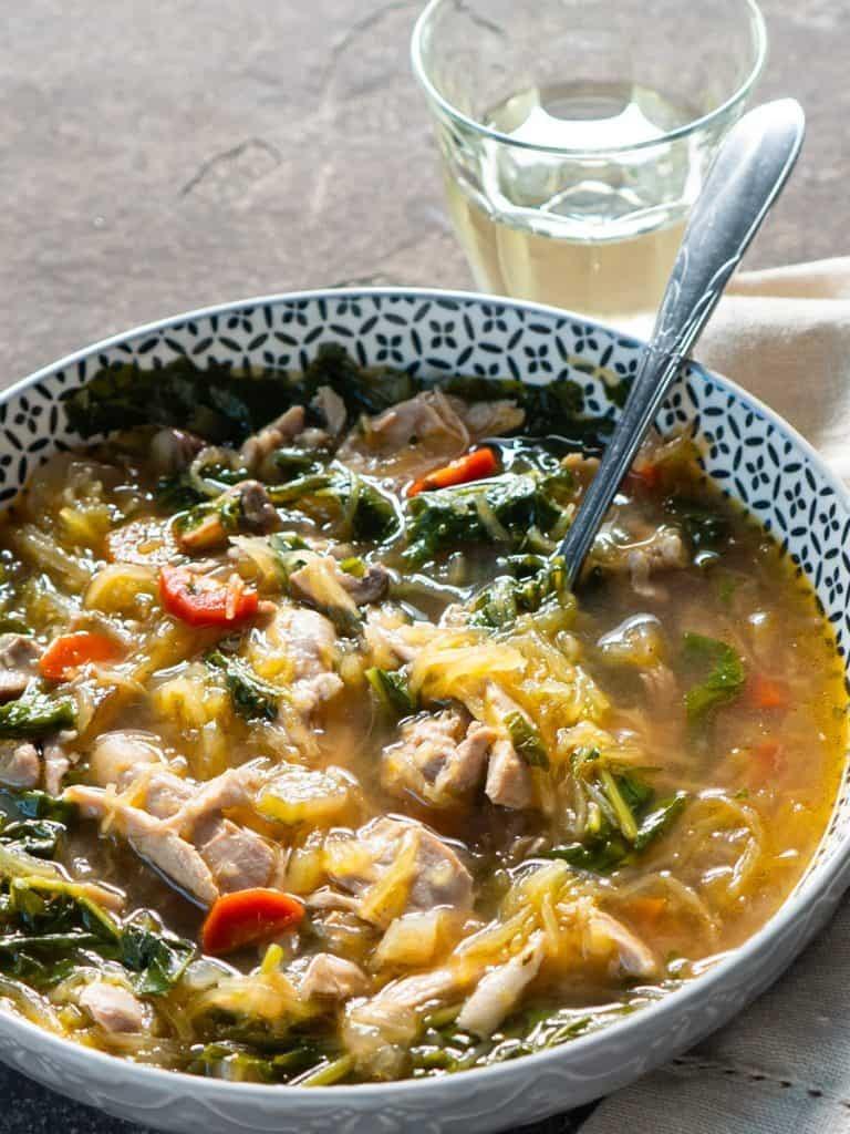 Chicken Spaghetti Squash soup